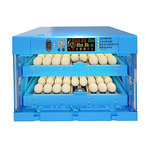 ZYL-YL Egg Incubator 112 Eggs Digital Poultry Hatcher Automatic Turning Egg Testing Light, Intelligent Brooder for Chicken Duck Dove Quail