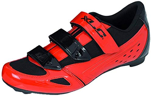 XLC Unisex Cb-R04 Radsportschuhe, Schwarz (Rot, Schwarz Rot, Schwarz), 46 EU