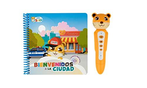 blaBOOK Libro Interactivo Infantil para Niños de 2 a 5 años + Lápiz Lector, Bienvenidos a la Ciudad   SI Contiene Lápiz Lector