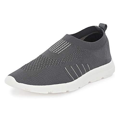 Bourge Men Vega-Z5 Grey Running Shoes-10 UK (Vega-6-10)