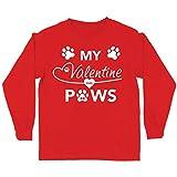 lepni.me Camiseta para Niños Mi San Valentín Tiene Patas Lindo Gato Mamá Perro Papá Amante de Las Mascotas Regalo (14-15 Years Rojo Multicolor)