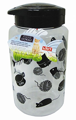 Great Features Of Lixit Animal Care Cat Treat and Food Storage Jars (128oz)