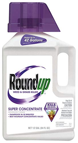 Roundup Weed and Grass Killer Super Concentrate, 1/2-Gallon
