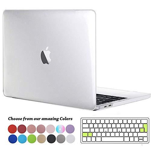 TECOOL Funda para MacBook Pro 13 2016 2017 2018 2019, Plástico Dura Case Carcasa + Tapa del Teclado para MacBook Pro 13.3 Pulgadas con/sin Touch Bar Modelo: A1706 A1708 A1989 A2159 - Cristal Clara