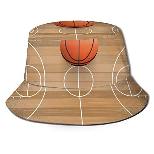 AJOR Sombrero de madera de la cancha de baloncesto unisex sombrero de pescador de la parte superior plana sombrero de sol al aire libre