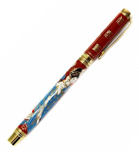 decorcn, Kugelschreiber, Kugelschreiber Fantasie cloisonn?e, Sch?nheiten von China antik, Schule, Sch?ler, Bereitstellung von B?ro, rot