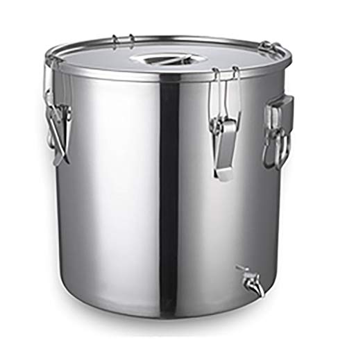 Find Bargain Food Storage Containers, Airtight Wine Pail Milk Bucket Cans 304 Stainless Steel With L...