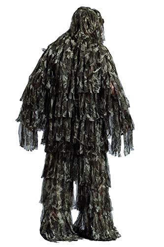 Gocher Camuflaje Caza 3D Ghillie Traje Secretivo Caza Nieve Silvestre Cremallera Ghillie Traje—Strip Cloth