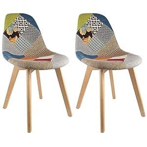 Patchwork ArctikCuisine Design Chaises 2 Scandinave ulK3cTF5J1