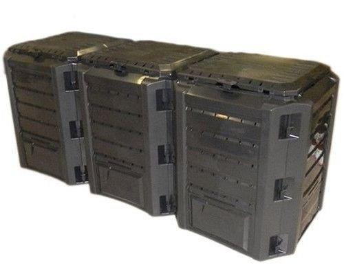 rg-vertrieb Garten Komposter 1200L Schwarz Modul Thermokomposter Kompostbehälter Kunststoff