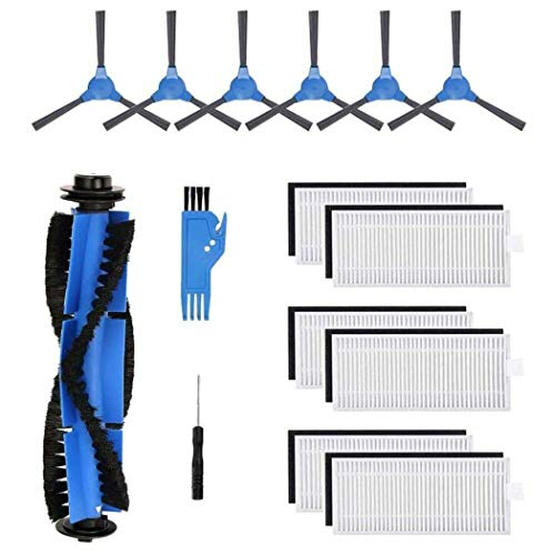 Parti di ricambio per aspirapolvere robot Kyvol Cybovac E20, E30, E31, 6 spazzole + 6 filtri + 1 spazzola principale + 1 taglierina