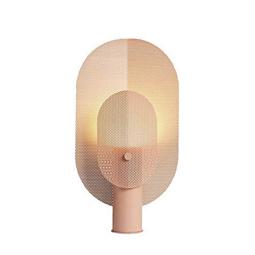 Lámpara Escritorio Lámpara Nórdica Post-Modern Minimalista Grid Hierro Fabricado Hierro Creativo Sala de Estar Hotel Dormitorio de Noche Lámpara de Libro