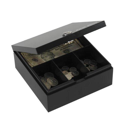 First Alert 3010F Steel Cash and Key Box, Black