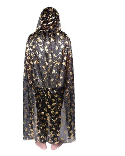 Cabo dorado con capucha para fiesta de cumpleaos con temtica de terror, disfraz de maquillaje y accesorios para fiestas temticas