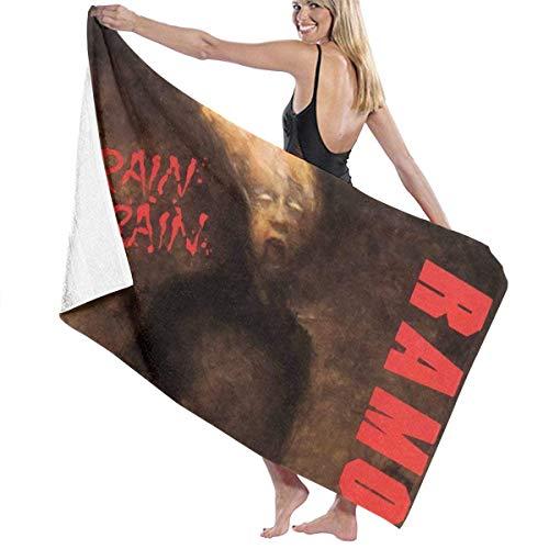 Ghkjhk8790 Unisex Ramones Brain Drain Beach Towel