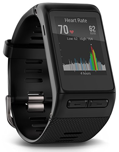 Garmin Vívoactive HR - Reloj con pulsómetro integrado, unisex, color negro, talla XL (Reacondicionado)