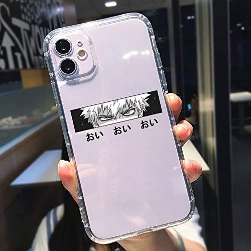 HNZZ Tmrtcgy Gykz Lindo Japón Anime Naruto Kakashi Funda Transparente Teléfono Transparente para iPhone 11 Pro 12 XR X XS MAX 7 8 6PLUS Soft TPU Cover Coque (Color : Style 5, Size : Iphone11)
