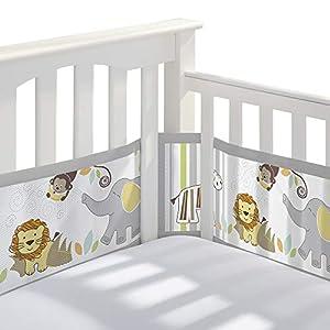 crib bedding and baby bedding breathablebaby classic breathable mesh crib liner - safari fun too