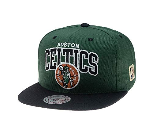Mitchell & Ness Gorras Boston Celtics Team Arch Green/Black Snapback