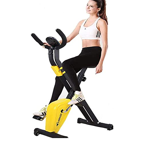WGFGXQ Bicicleta estática reclinada, Bicicleta Interior magnética con Resistencia de 8 Niveles, Monitor LCD, Asiento de fácil Ajuste