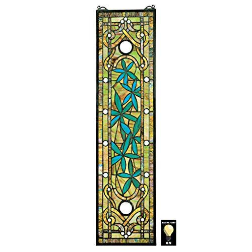 Buntglas-Panel - Asian Serenity Bamboo Garden Buntglas-Fenster Behang - Fensterbehandlungen