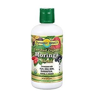 Dynamic Health Organic Moringa Blend Juice | With superfruits Acai, Goji, Mangosteen & Morei | Vegetarian, No Gluten… |