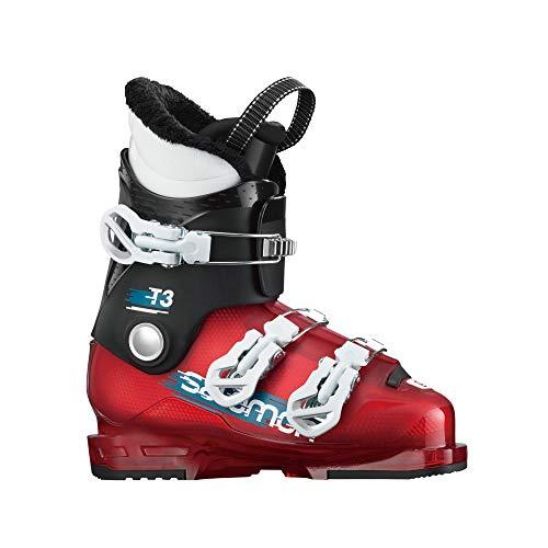 Salomon T3 RT Kids Ski Boots Black/Red/White Sz 5/5.5 (23/23.5)