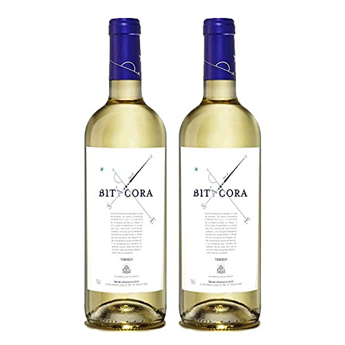 Vino Blanco Bitacora Verdejo de 75 cl - D.O. Rueda - Bodegas Cuatro Rayas (Pack de 2 botellas)
