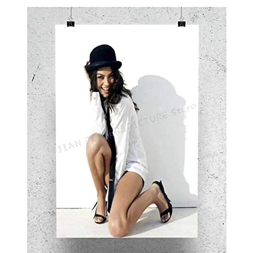 Posters Mila Kunis Star Sexy Beautiful Poster Wall Decor Art Painting Poster Printed Canvas for Wall Decoration Living Bedroom Room office-20x28Inch No Frame