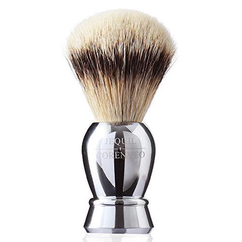 Je&Co Ultra Soft Silvertip Badger Bristle Shaving Brush, Deluxe Silvertip Brush with Alloy Handle