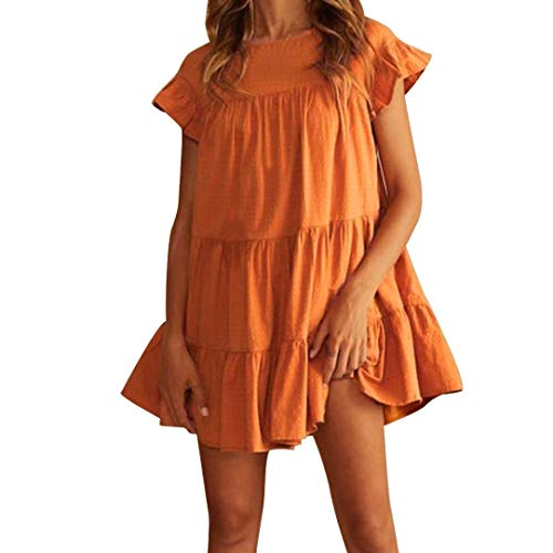 Friendgg ronde hals dames mouwloos, kant zomerjurk, mode merken, basic jurken, hemdjurk, casual jurk, tanktop, longshirts kant, tuniek, jurk kinelang strandjurk