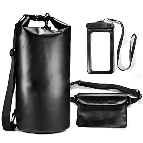laoonl Bolsa seca impermeable, bolsa seca flotante, bolsa seca 3 en 1, bolsa impermeable para teléfono móvil, mochila seca para hombres, camping, barco, deporte, natación 10/20L