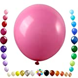 Party Ulyja Rose Red Pink Balloons Kids' Party 50 Pack Bulk 12 Inch Pearlized Natural Latex Balloons Helium Quality for Birthday Wedding Tropical Hawaiian Luau Themed Arch's DIY Decorations Supplies