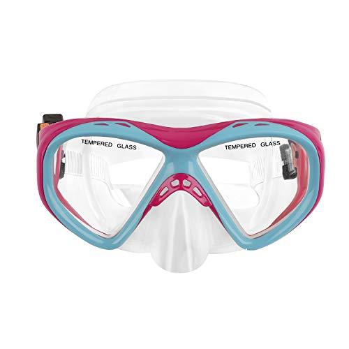 YSXY Kinder Schwimmbrille Taucherbrille UV Schutz & Anti-Fog Schwimmen Brille Schutzbrillen für Mädchen und Jungen, Verstellbares Silikonband (Rosa und Blau)