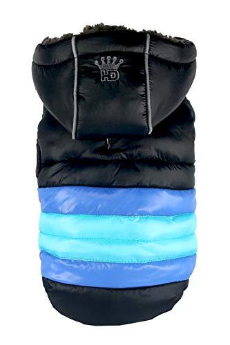 Hip Doggie HD-5STBK-S Veste Softshell à Rayures pour Chien Noir Taille S