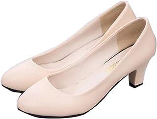 [ムリョシューズ] パンプス アーモンドトゥ 走れる エナメル ローヒール パンプス 痛くない レディース 歩きやすい 靴 大きいサイズ 黒 白 赤 小さいサイズ 4cmヒール フォーマル 結婚式 太ヒール オフィス 春夏