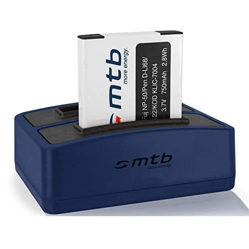 Batería + Cargador Doble (USB) NP-50 para Fuji F50fd F60fd. XP100 XP110./ Ricoh WG-M2 / Kodak.Pentax. - Ver Lista de compatibilidad