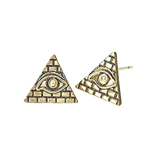 yichahu Pendientes de tuerca con triángulo de ojo de Ra como regalo | Egipcios | Pendientes de ojo | Regalo para ella | Ojo de Horus | Pendientes Boho
