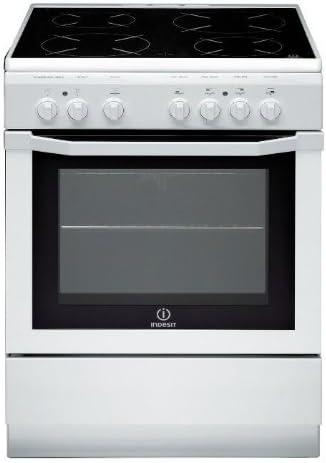 Cuisiniere vitroceramique Indesit I6V6C1AHWFR - Blanc - Classe énergétique A / Plaque Vitrocéramique / Four Electriqu...