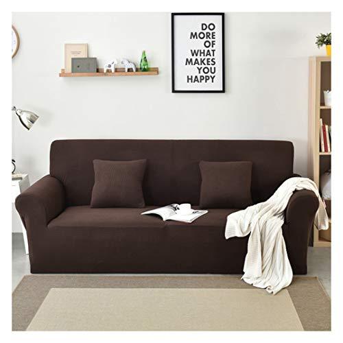 MISSMAO_FASHION2019 Elastisch Sofa Überwürfe Sofabezug,Antirutsch Stretch Sofahusse Sofa Abdeckung Hussen Atmungsaktiv für Sofa,Couch,Sessel Braun S(90-140cm)