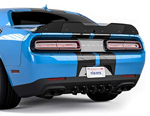 Vicrez LV Style Rear Diffuser Add-On vz101061 for Dodge Challenger 2015-2020