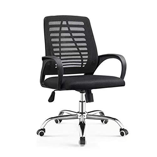 WNN-URG Sedia da ufficio, a casa Computer Mesh, casa Riunione del personale, mesh traspirante, ergonomico di sollevamento Attività sedia girevole Nero, Verde, Rosso WNN-URG (Color : Nero)