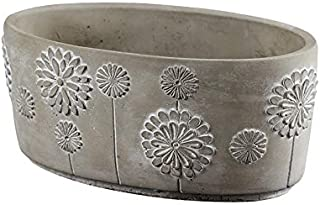 Ellipse Flowerpot Silicone Mold Concrete Planter Mould Handmade Craft Cement Decoration Tool