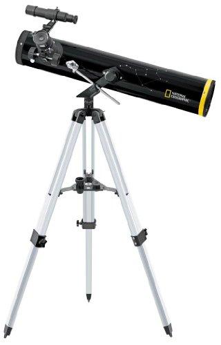 National Geographic Teleskop Reflektor Spiegelteleskop 76/700 AZ mit Stativ und Zubehör zum einfachen Start in die Welt der Astronomie