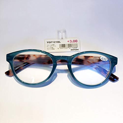 YGF121 BONOX ダルトン おしゃれ 老眼鏡 シニアグラ Reading Glasses (BL(BLUE), 1.5)