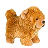 Wjfijz Lindas Mascotas de simulación muñecas esponjosas Regalos de cumpleaños muñeca Chow Chow Frise Cachorro Animal de Peluche Perro Juguete de Peluche 20 * 25 CM