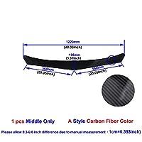 ユニバーサルカーボンファイバー/ブラックカーフロントバンパーリップスプリッタバンパーディフューザガードプロテクター (Color : Middle Carbon A)