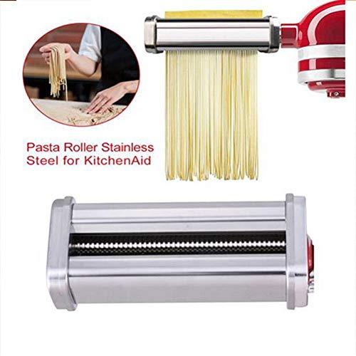 Pasta- Roller Edelstahl Dreiteiliges Set Stand Mixer Aufsätze Cutter Set Tagliatelle Spaghetti Optionales Zubehör, Für Alle KitchenAid Dreiteiliger Nudelvorsatz Küchenmaschine