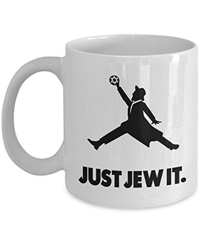 Just Jew It – Caneca de café judaica – presentes engraçados judeus, Branco, 11oz, 1