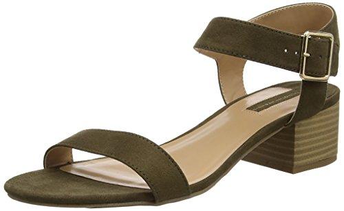 Dorothy Perkins Women's Heels Open-Toe Sandals, Green Green, 5 Big Kid